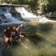 Nieces taking a dip