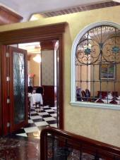 to the dining area